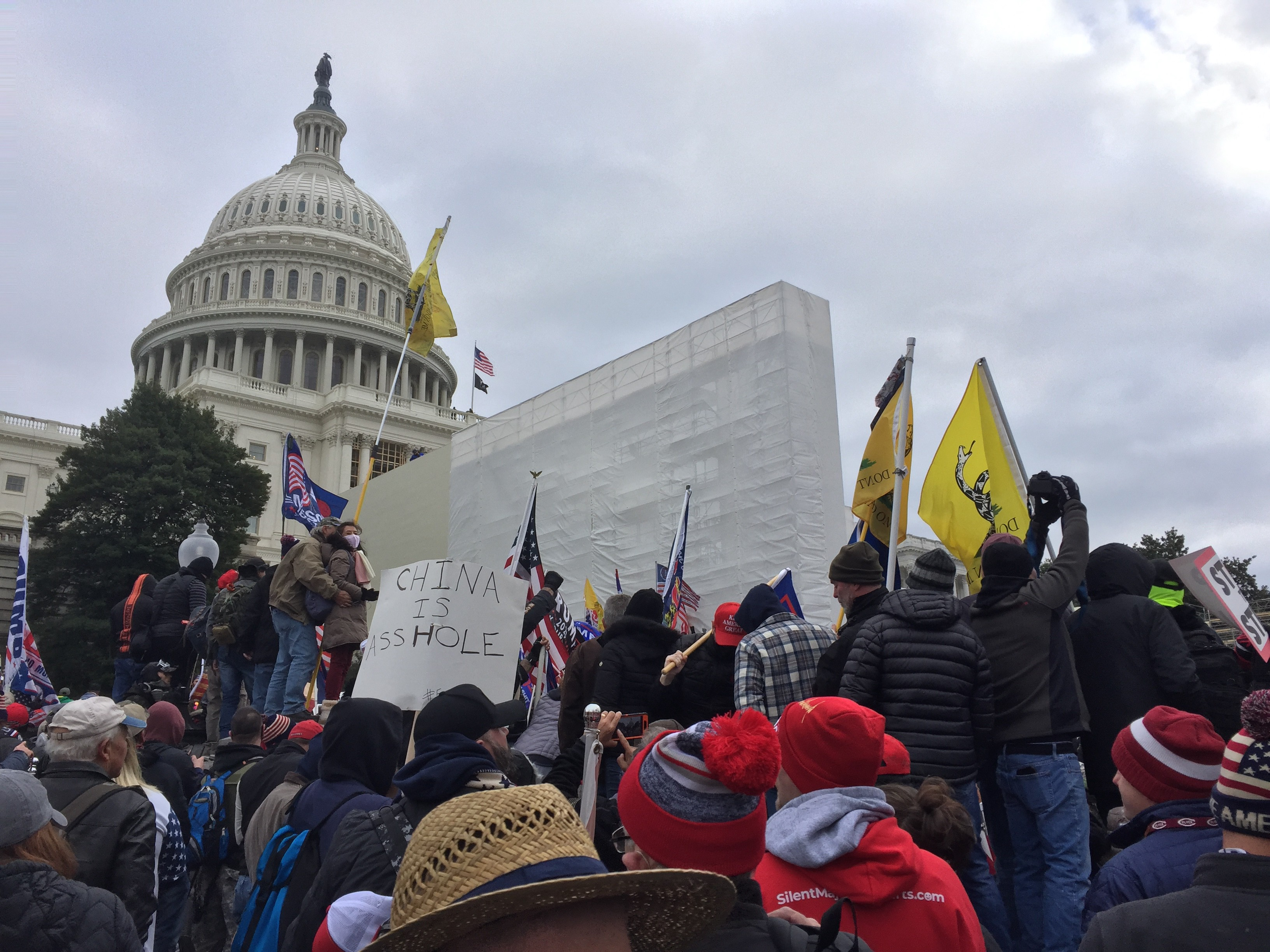 white nationalist rioters at the capitol building on january 6, 2021